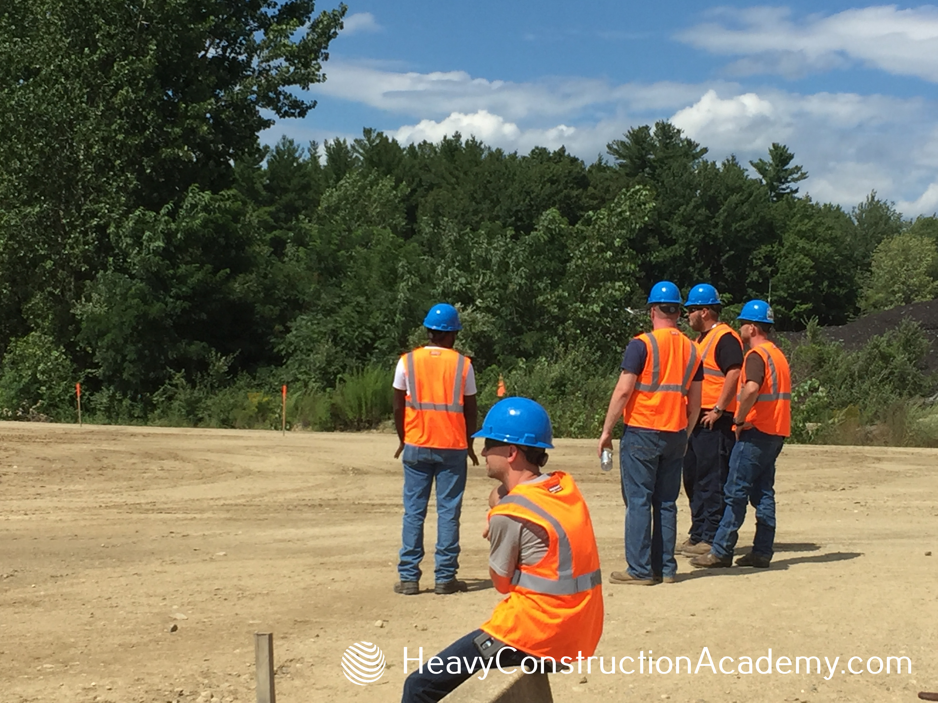 Heavy Construction Academy Students on the Site